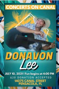 Concerts on Canal with Donavon Lee, May 22